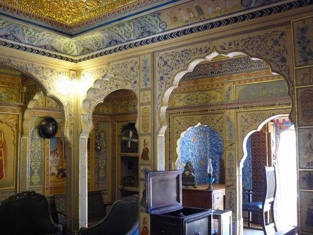 Interior de Haveli en Jaisalmer