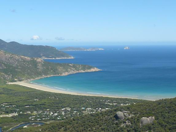 Vista de Wilson Promontory desde Mt Bishop