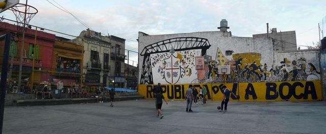 fútbol en La Boca, Buenos Aires